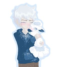 Jack Frost and Alola Vulpix by Amicyberspace