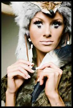 tribal fox makeup