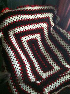 Ravelry: Kendra34's Rectangular Granny Square Afghan- Chris' Gma!