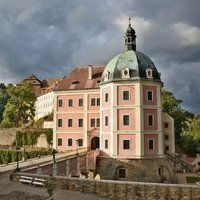 Amazing Becov castle - home of famous St.Maurus reliquary. Becov is a part of our day trip to Karlovy Vary. Book this trip with us !