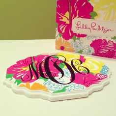 lilly pulitzer scrapbook paper | Lilly Pulitzer DIY