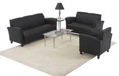 Lounge Seating Bonded Leather Wood Living Room Set