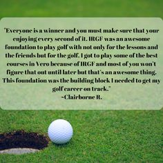 Thank you, Claiborne! We are so glad you enjoyed your time with us! We hope to see you back on the green shortly. Call us today 📞at (772) 713-9593. Golf Training, Training Center, Golf Now, Athletic Scholarships, Indian River County, Vero Beach Fl, Golf Lessons, Best Foundation, Entry Level