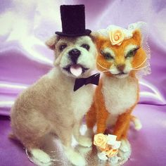 Custom Animal Wedding Cake Topper by FacciDesigns on Etsy