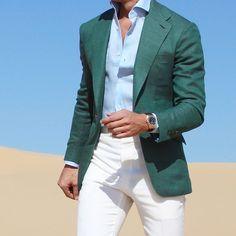 "1,980 Likes, 23 Comments - ABSOLUTE BESPOKE (@absolutebespoke) on Instagram: ""@absolutebespoke #white #green #sport #jacket #pants #shirt #absolutebespoke"""