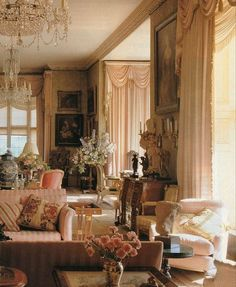 French Country Living Room, Living Room Modern, Living Room Decor, Living Rooms, Living Room Lounge, Family Rooms, Traditional Interior, Classic Interior, Deco Rose