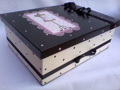 Caixa Organizadora Manequim Rosa | jupi artes - pintura e decoupagem em mdf | Elo7