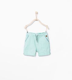 Image 1 of Shorts with pockets and adjustable waist from Zara