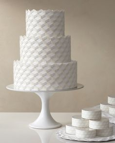 modern geometric wedding cake shades of blue.. and it doesnt have flowers or random fruit..finally..