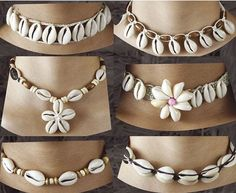 WHOLESALE JEWELRY CATALOG from Bali. Handmade cowry shell necklaces with coconut shell beads. Cowrie shell necklaces wholesale for surfing jewellery. Seashell Jewelry, Beach Jewelry, I Love Jewelry, Jewelry Design, Jewelry Making, Silver Jewelry, Yoga Jewelry, Seashell Necklace, Gold Jewellery