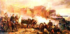 Действия русской артиллерии во время штурма крепости Измаил в 1790 г. Худ. Ф.И. Усыпенко