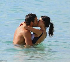 Pucker up! Lucy Watson and her boyfriend James Dunmore looked more in love than ever on Wednesday, as they indulged in a little PDA on the beach in Barbados