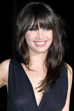 Daisy Lowe is Gavin Rossdale's daughter- cute bangs Also, pale like me with dark brown hair and eyes