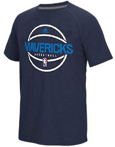 Dallas Mavericks Adidas Slimmer Fit On-Court Navy Pre-Game Ultimate Synthetic Short Sleeve T Shirt $34.95