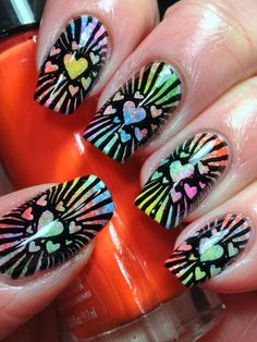 Funky Valentines Day Nails - Canadian Nail Fanatic
