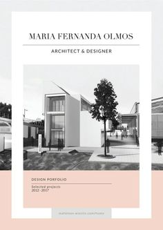 Maria Fernanda Olmos - Architecture + Design Portfolio 2017 - Art - Editorial/Magazine Layout - Issuu is a digital publishing platform that makes it simple to publish magazines, catalogs, newspap - Architecture Design, Architecture Magazines, Architecture Portfolio, Architect Portfolio Design, Online Portfolio Design, Architecture Panel, Drawing Architecture, Portfolio D'architecture, Portfolio Covers