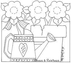for embroidery or felt applique Applique Templates, Applique Patterns, Craft Patterns, Flower Patterns, Wool Applique, Embroidery Applique, Cross Stitch Embroidery, Embroidery Designs, Garden Embroidery