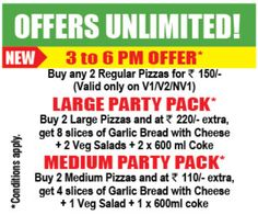 Offers Unlimited from Smokin' Joe's Pizza #Pizza #mumbai #pune #deal #offer #hungry #homedelivery #food