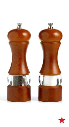 Salt and pepper mills - because every great pizza needs a little spice. They look great on the counter top, too!