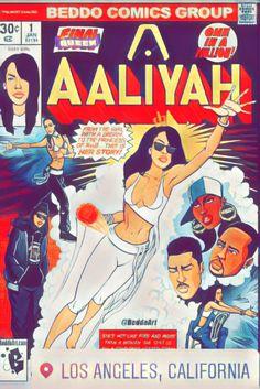 Aaliyah beedo comics group R&B pop soul-pop Dope Cartoons, Dope Cartoon Art, Black Cartoon, Arte Hip Hop, Hip Hop Art, Black Girl Art, Black Women Art, Aaliyah Style, Black Comics