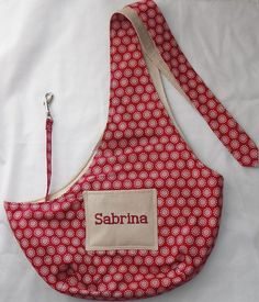 Pet Sling Embroidered With Your Dogs Name - For Dogs Up To 6 lbs #AmericanMade: