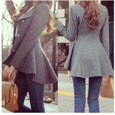 Peplum fall #jacket - flawless #fashion #winter