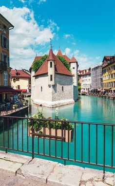 """This was taken in Annecy France. It's a small mountain town, nestled under the French Alps and referred to as """"The Venice of France""""..."""