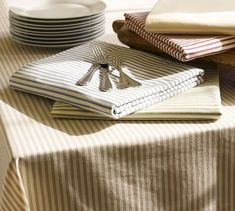 Image result for ticking stripe placemat