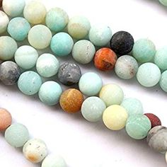 Amazon.com: Natural Unpolished Frosted Amazonite Round 8mm Gemstone Jewelry Making Beads Findinds Supplies: Arts, Crafts & Sewing