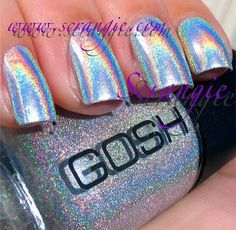 I WANT THIS SOOOOO MUCH!!!    I found 'Gosh Holographic Nail Polish' on Wish, check it out!