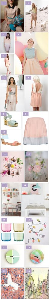 Here is a little collage of pastel inspiration for the new season :) 10 20