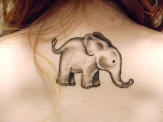 Cutest Elephant Tattoo.