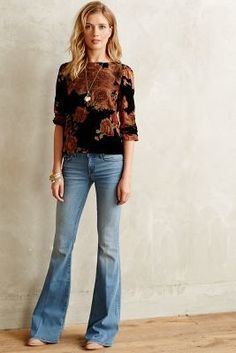 Level 99 Dahlia Flare Jeans Bond 29 Denim #anthrofave #anthropologie