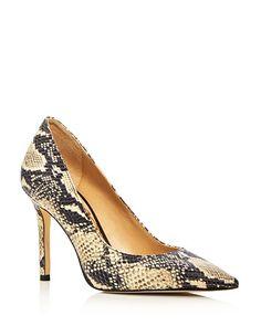 Sam Edelman Hazel Snake Embossed Point Toed Pumps  #shoes #pumps #friday #wearitwell