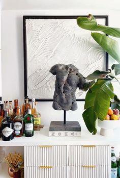 Large White Vase, Black Vase, White Vases, Coffee Table Vase, White Metal Chairs, Gold Stool, Oil Based Cleanser, Blue Couches, Tv Decor