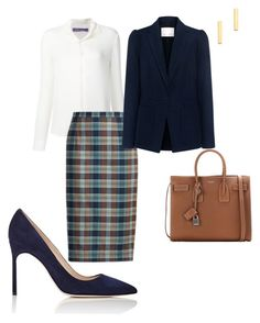 """Work"" by cgraham1 on Polyvore featuring Ralph Lauren, Rebecca Taylor, Manolo Blahnik, Gorjana and Yves Saint Laurent"