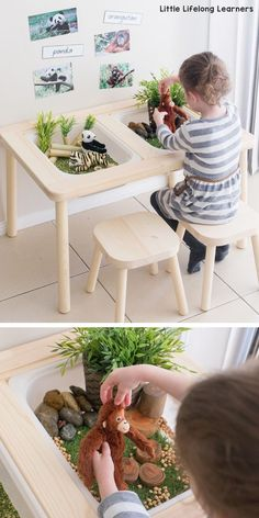 Ikea Flisat Sensory Table Sensory Play Tub Ideas For Toddlers And Preschoolers Play Ideas For The Early Years Ikea In The Home And Classroom Ikea Hacks Endangered Animals Djungelskog Range Ikea Kids, Sensory Table, Sensory Play, Sensory Rooms, Sensory Bins, Toddler Fun, Toddler Preschool, Toddler Play Table, Toddler Class