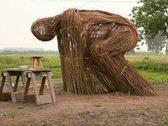 Land Art.  branch sculpture.