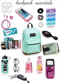 Middle School Supplies, Middle School Hacks, High School Hacks, Life Hacks For School, Back To School, College School Supplies, High School Essentials, Purse Essentials, Travel Essentials
