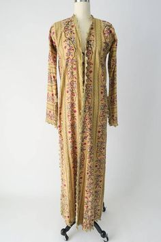 An embroidered Turkish  lady's anteri robe, Ottoman, late 18th – early 19th century.