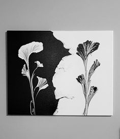 Black and White Acrylic Abstract Floral Painting Original Art 16 X 20 Black and White Acrylic Abstract Floral Painting Original Art 16 X 20 Anne Selig heiligaquarell abstrakt 3 This black and nbsp hellip and white Painting Black And White Painting, Black And White Abstract, Black White, Acrylic Pouring Art, Acrylic Art, Original Art, Original Paintings, Art Paintings, Original Image
