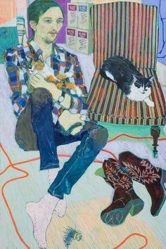 Hope Gangloff - Ballpoint Pen Art - Figurative Painting - Must Seriously Love Cats (Greg Lindquist), 2015 Art And Illustration, Figure Painting, Painting & Drawing, Richard Burlet, Hope Gangloff, Ballpoint Pen Art, Art Graphique, Figurative Art, Cat Art