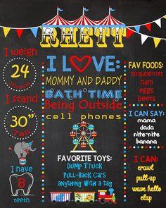 Circus Birthday Chalkboard