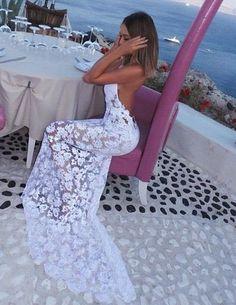 lace prom dress: