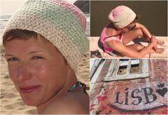 """hvide Häkelmütze """"Lisboa""""  ~ pink, green, beige"""
