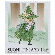 Illustration By: Tove Jansson encore des souvenirs. Tove Jansson, Children's Book Illustration, Mail Art, Stamp Collecting, Postage Stamps, Illustrators, Fairy Tales, Drawings, Artwork