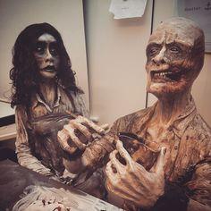 Working hard or hardly working?  #sculpture #polymer #sculpey #sculpture #ceramics #konstfack #creepy #monster #craft #ghost #horror #teeth #girl #haunted #spirit #polymerclay #dark #creepy #monster #clay #creation #clayart #eathealthy #keramik #stengods