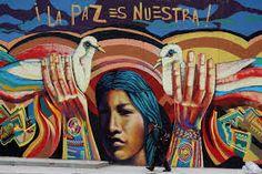 muralista guache - la paz es nuestra