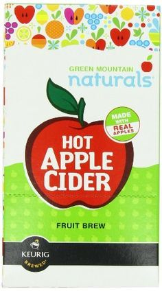 Green Mountain Naturals Hot Apple Cider,  K-Cup Portion Pack for Keurig K-Cup Brewers, 24-Count, http://www.amazon.com/dp/B004AWTR6M/ref=cm_sw_r_pi_awdm_9sQ7sb17REK9W