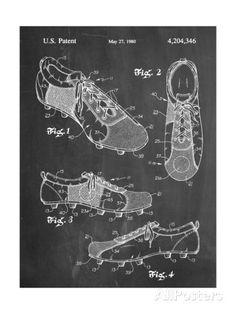Soccer Shoes Patent Prints - at AllPosters.com.au